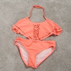 Girls 🌞 Coral 2 Piece Swimsuit